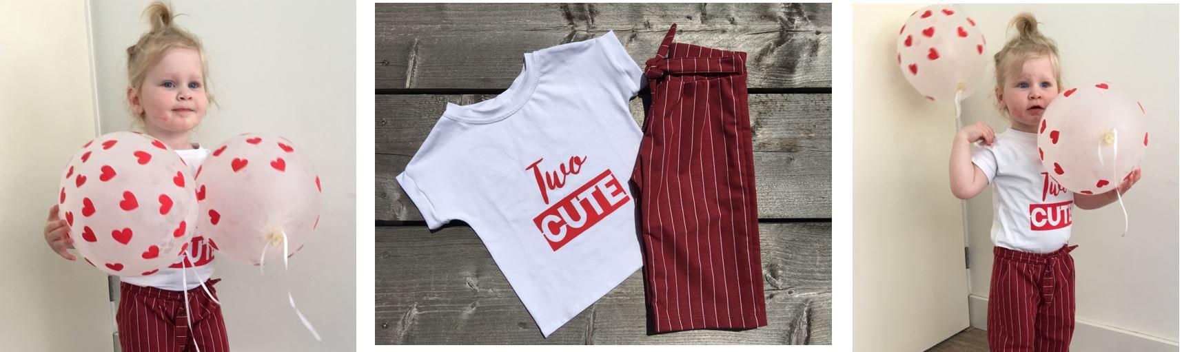 Outfit voor tweede verjaardag zelf naaien; van keuze stof, patroon tot zeefdrukken 🎉