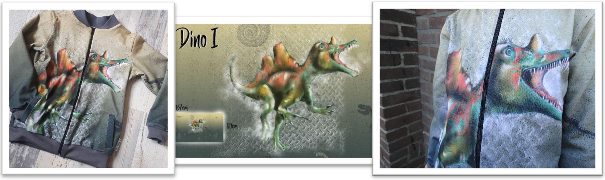 De Ollie Bomber en Dino paneelstof