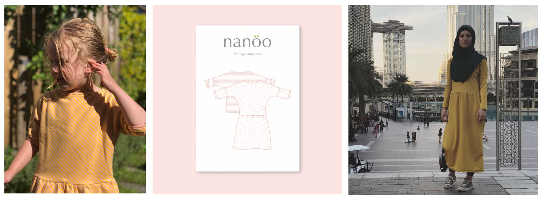 Duo Blog! Nanoo top&dress: kids & dames